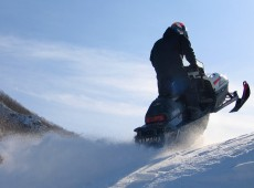 Sapporo Snowmobiling With Taxi Pick-Up Service