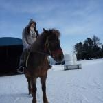 札幌雪中乗馬体験_恵庭ホースガーデンMURANAKA