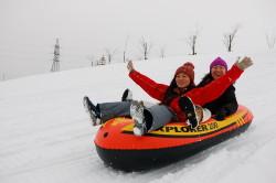 札幌雪遊びチューブ滑り_恵庭スノーランドるるまっぷ