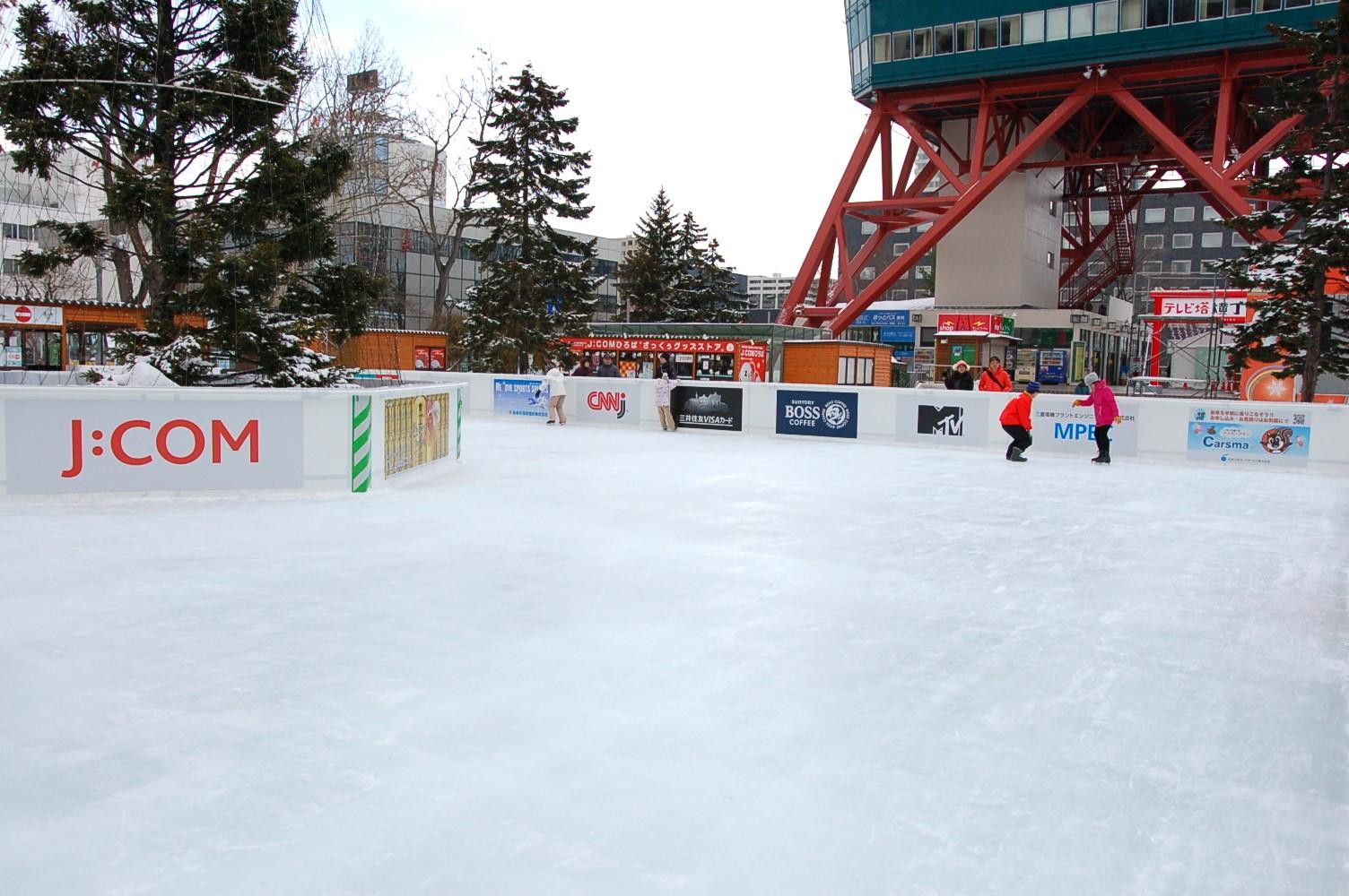 札幌都心でスケート