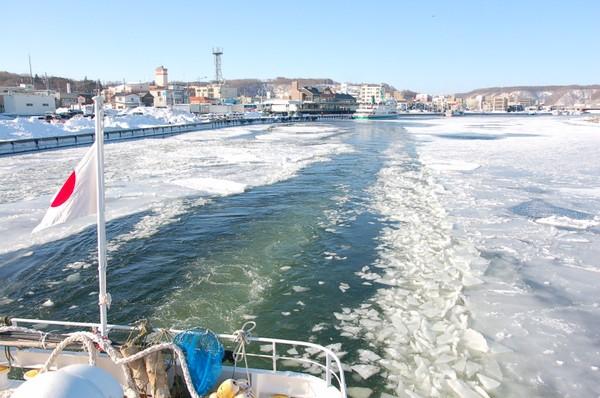 砕氷船「おーろら」から流氷