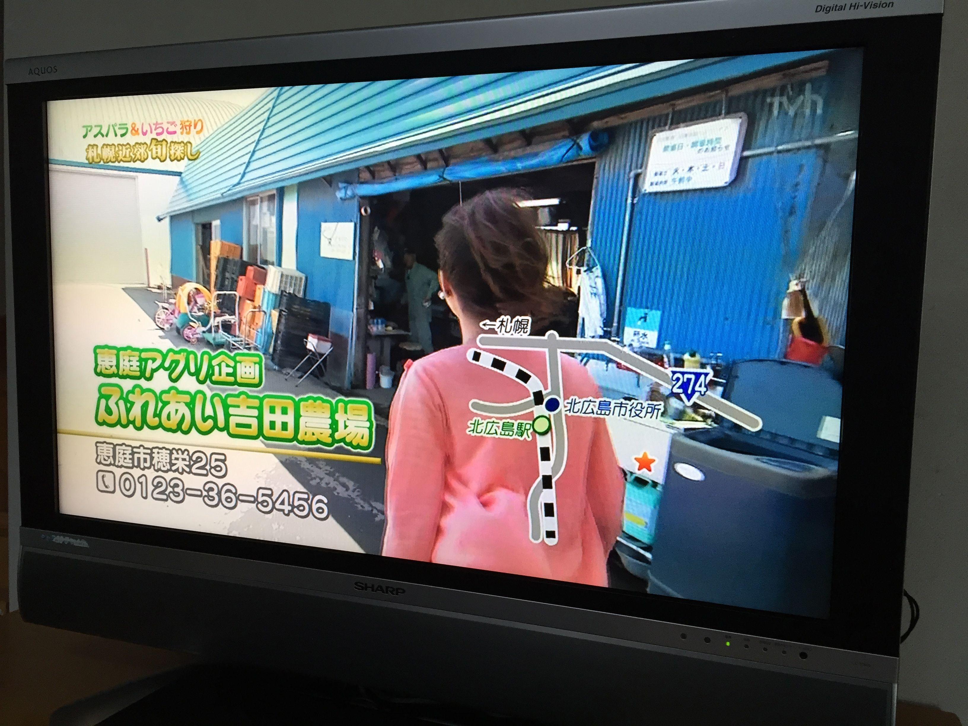 アスパラ狩り体験がTV番組で紹介されました!