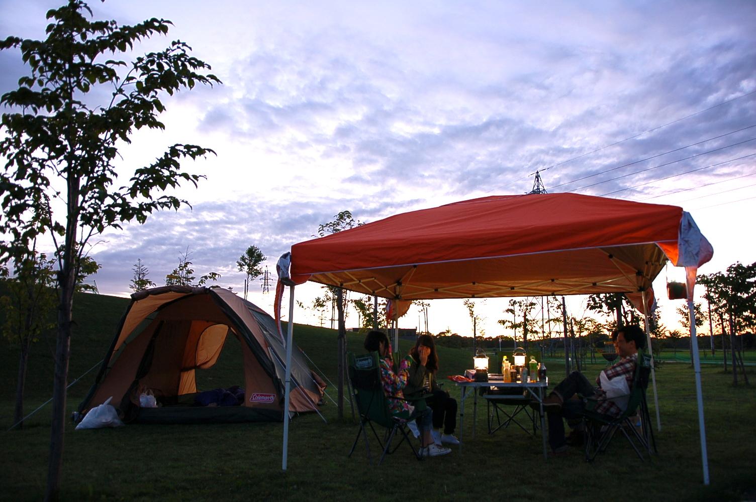新登場、大好評の「手ぶらキャンプ」に「恵庭ルルマップ自然公園」会場が加わりました!
