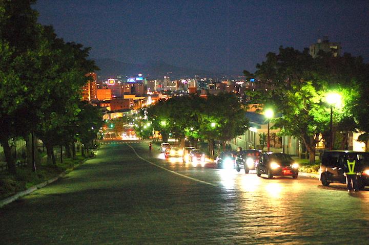 夕暮れの函館市内をぶらぶら