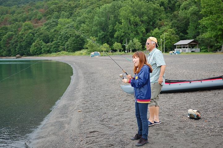 支笏湖で手ぶらフィッシングとバーベキュー