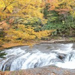 白扇の滝上流